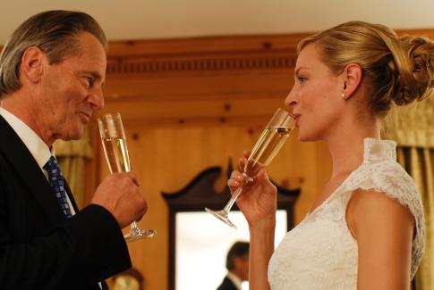 Uma Thurman and Sam Shepard in The Accidental Husband (2008)