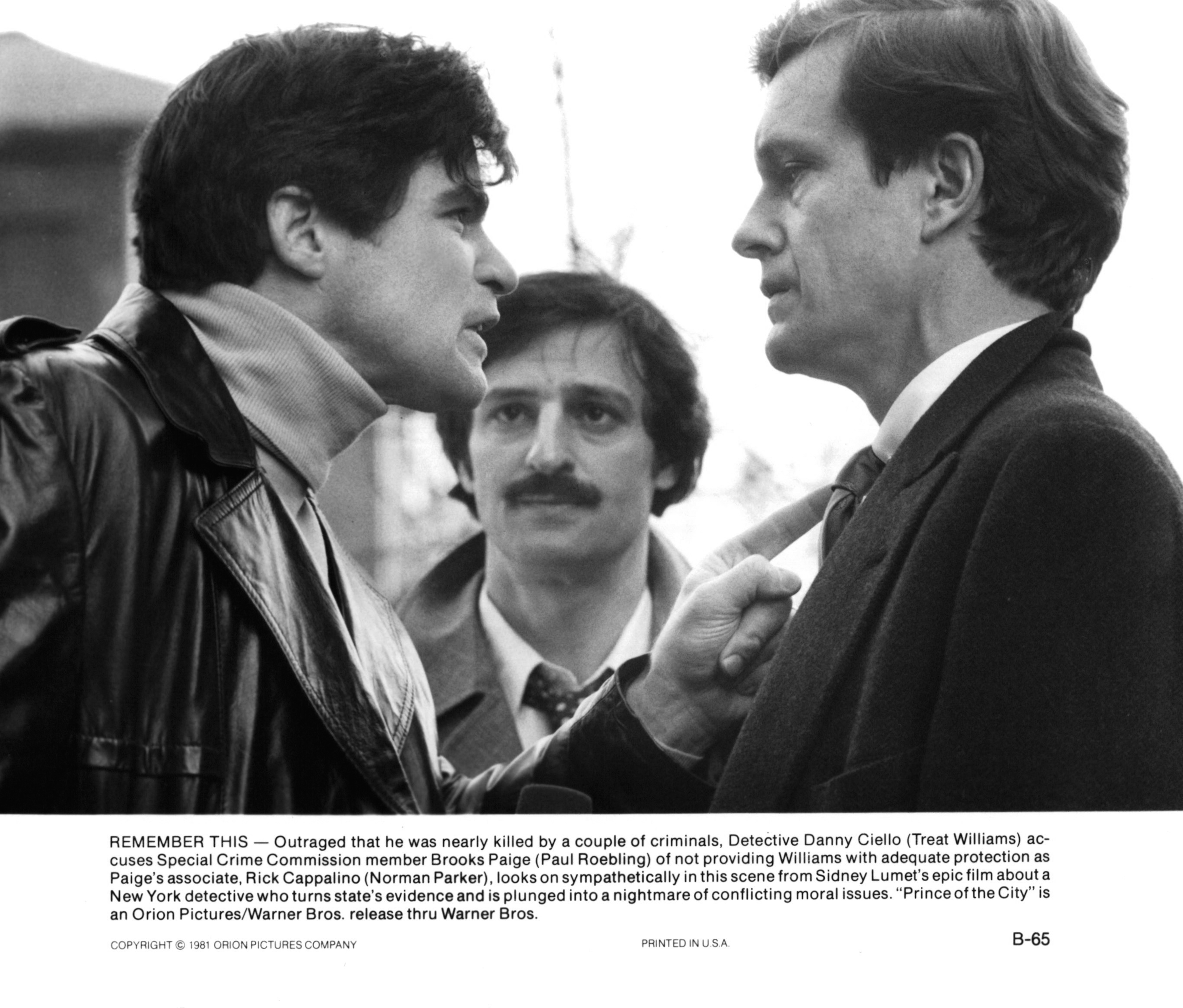 Treat Williams, Norman Parker, and Paul Roebling in Prince of the City (1981)
