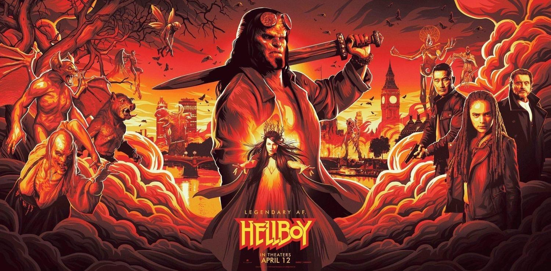 Milla Jovovich, Daniel Dae Kim, Ian McShane, David Harbour, Sasha Lane, and Troy James in Hellboy (2019)