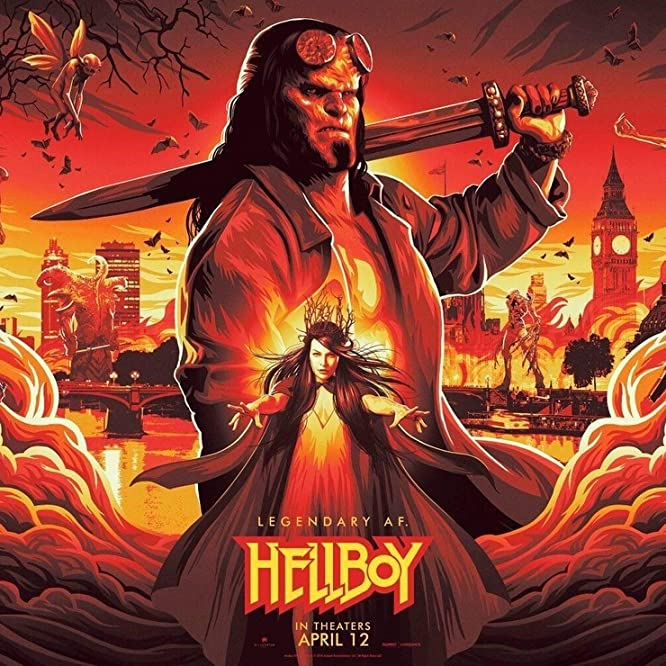 Milla Jovovich, Daniel Dae Kim, Ian McShane, David Harbour, Sasha Lane e Troy James em Hellboy (2019)