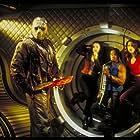 Melyssa Ade, Lexa Doig, Kane Hodder, and Derwin Jordan in Jason X (2001)
