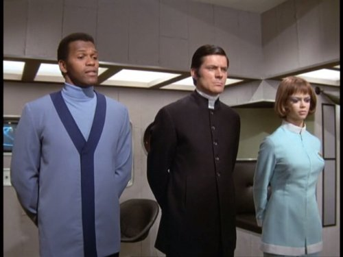 Harry Baird, Gabrielle Drake, and Gary Myers in UFO (1970)