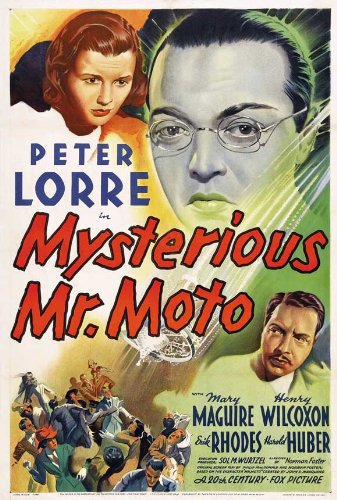 Peter Lorre, Harold Huber, and Mary Maguire in Mysterious Mr. Moto (1938)