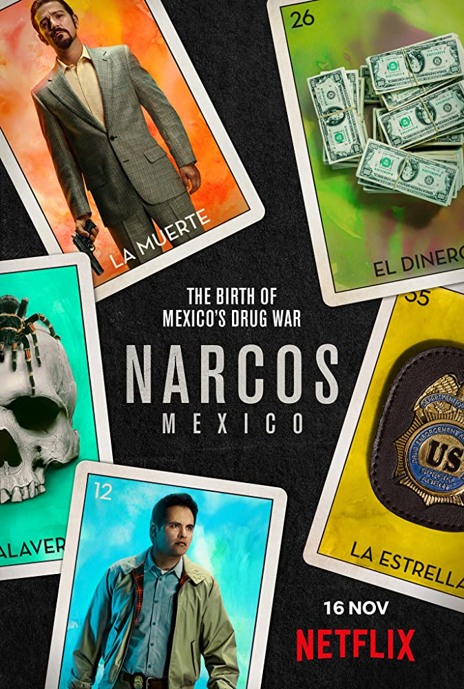 Diego Luna and Michael Peña in Narcos: Mexico (2018)