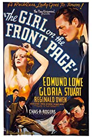 Gloria Stuart, Gilbert Emery, Edmund Lowe, and Reginald Owen in The Girl on the Front Page (1936)