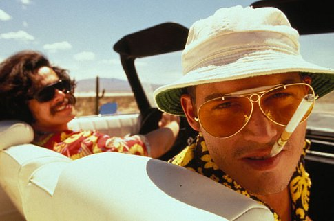Johnny Depp and Benicio Del Toro in Fear and Loathing in Las Vegas (1998)