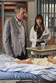 Tina Holmes, Hugh Laurie, Jesse Spencer, and Amber Tamblyn in House M.D. (2004)