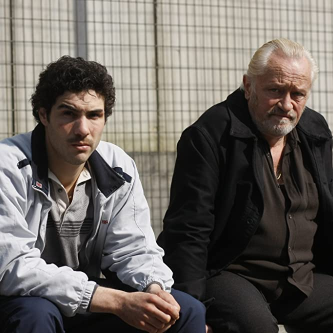 Niels Arestrup and Tahar Rahim in A Prophet (2009)