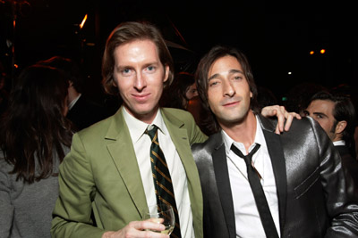 Adrien Brody and Wes Anderson at an event for The Darjeeling Limited (2007)