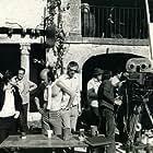 Ilya Salkind and Richard Lester on the set of THE THREE MUSKETEERS (1973)