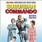 Christopher Lloyd, Shelley Duvall, Hulk Hogan, and Michael Faustino in Suburban Commando (1991)
