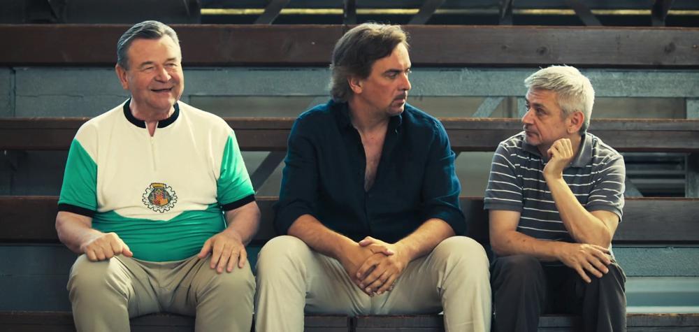 Václav Postránecký, Michal Suchánek, and Tomás Matonoha in Bajkeri (2017)