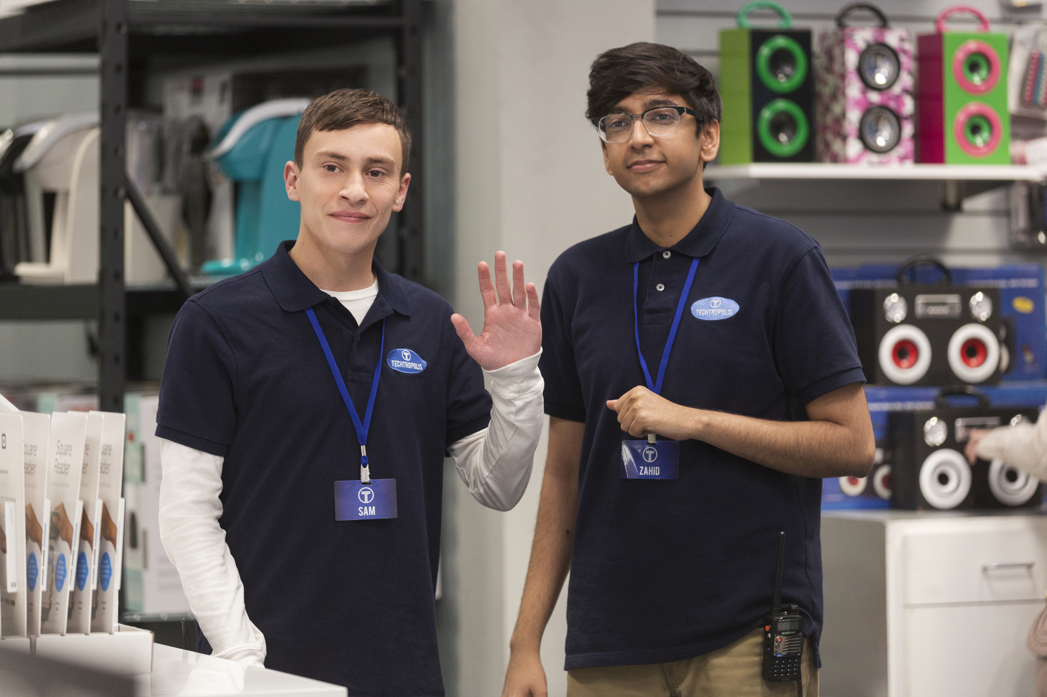 Keir Gilchrist and Nik Dodani in Atypical (2017)