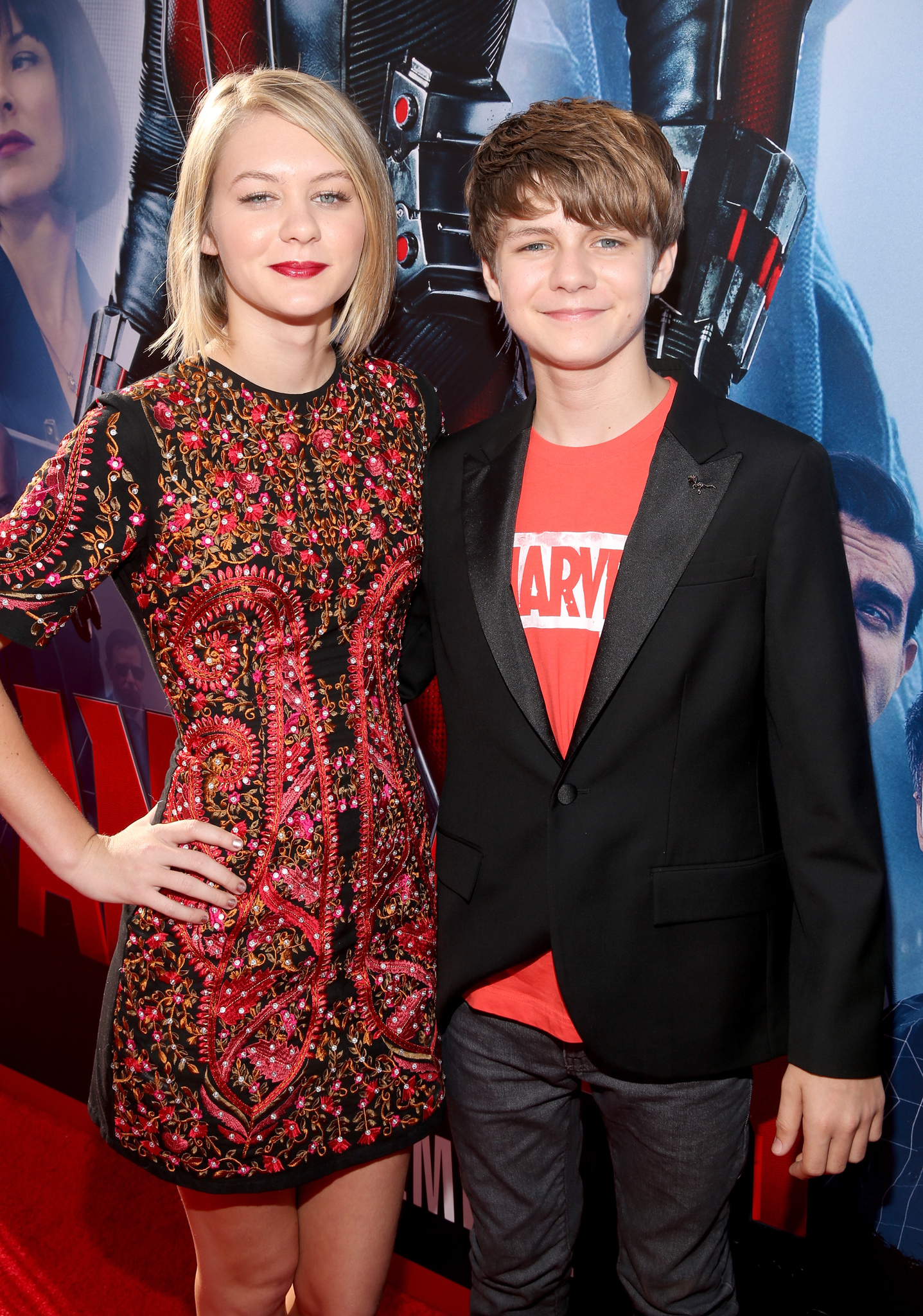 Ty Simpkins and Ryan Simpkins at an event for Ant-Man (2015)