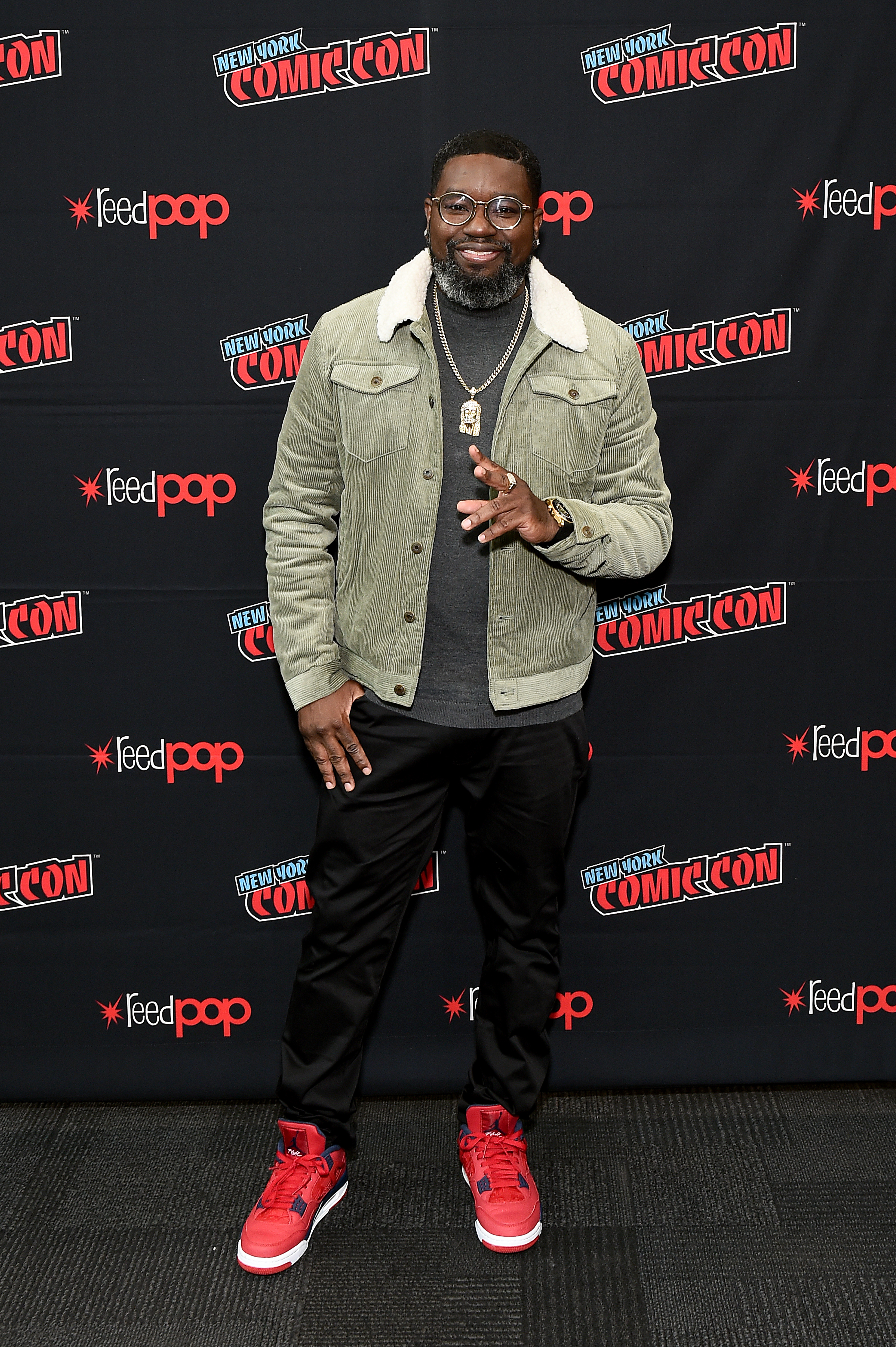 Lil Rel Howery at an event for Free Guy (2021)