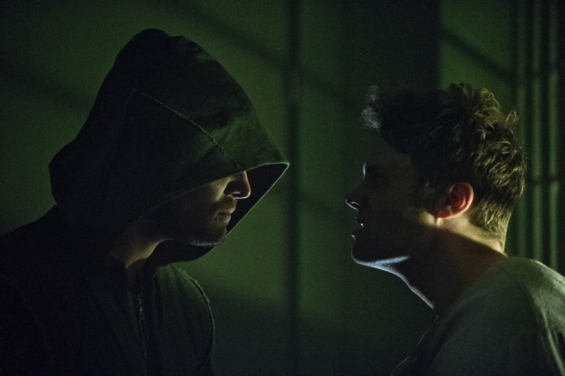 Seth Gabel and Stephen Amell in Arrow (2012)