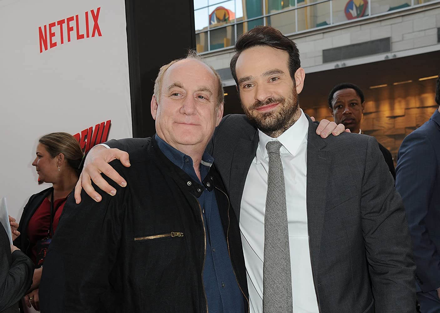 Jeph Loeb and Charlie cox