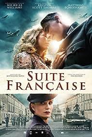 Kristin Scott Thomas, Matthias Schoenaerts, and Michelle Williams in Suite Française (2014)
