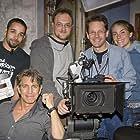 Still of Eric Roberts, Brandon Wilson, John Waterman, Daniel Noga, and Tiffany Burns during filming of Intent