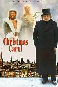 George C. Scott, Angela Pleasence, and Edward Woodward in A Christmas Carol (1984)
