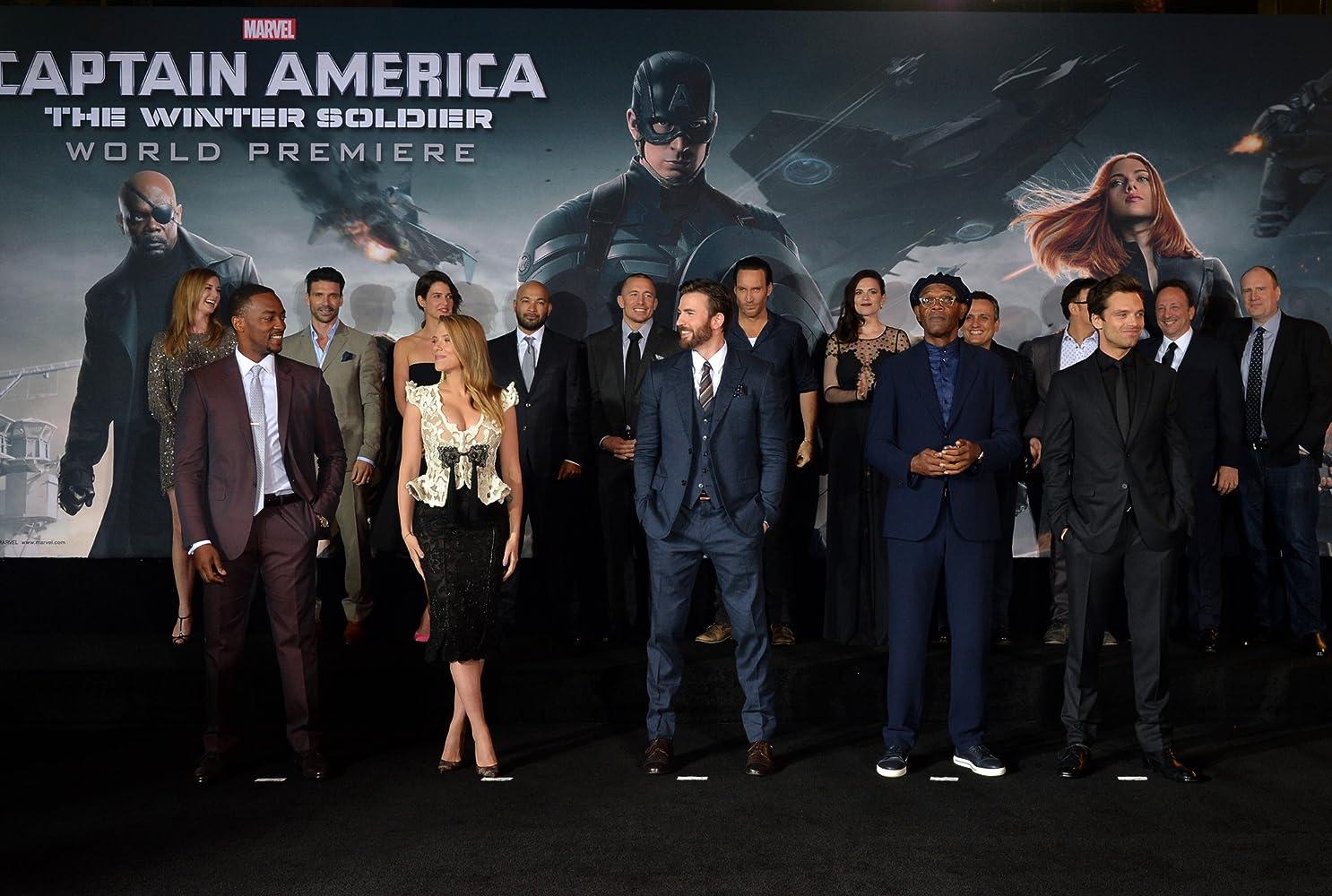 Deretan para pemeran 'Captain America: The Winter Soldier' saat menghadiri World Premier 'Captain America: The Winter Soldier'.