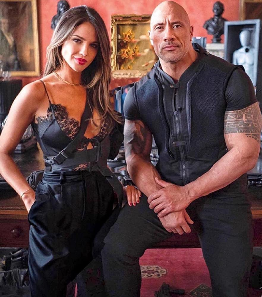 Dwayne Johnson and Eiza González in Fast & Furious Presents: Hobbs & Shaw (2019)
