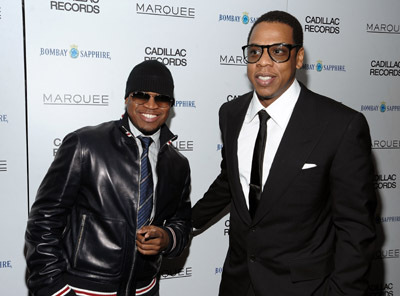 Jay-Z and Ne-Yo at an event for Cadillac Records (2008)