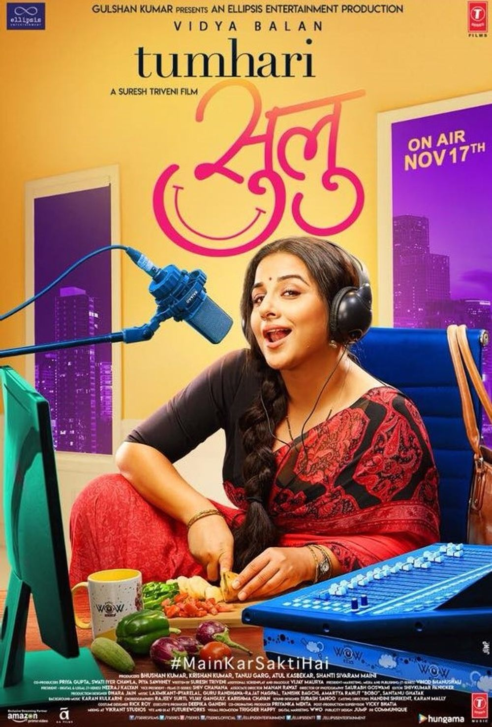 Image result for Tumhari Sulu movie poster