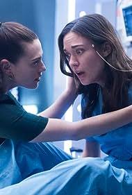 Odette Annable and Katie McGrath in Supergirl (2015)
