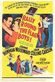 Paul Newman, Joan Collins, Jack Carson, and Joanne Woodward in Rally 'Round the Flag, Boys! (1958)