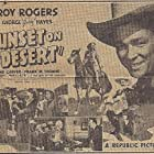 Roy Rogers, Lynne Carver, and George 'Gabby' Hayes in Sunset on the Desert (1942)