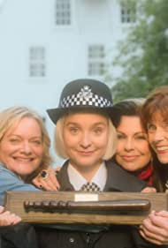 Julie Graham, Siobhan Redmond, Sarah Woodward, and Olivia Vinall in Queens of Mystery (2019)