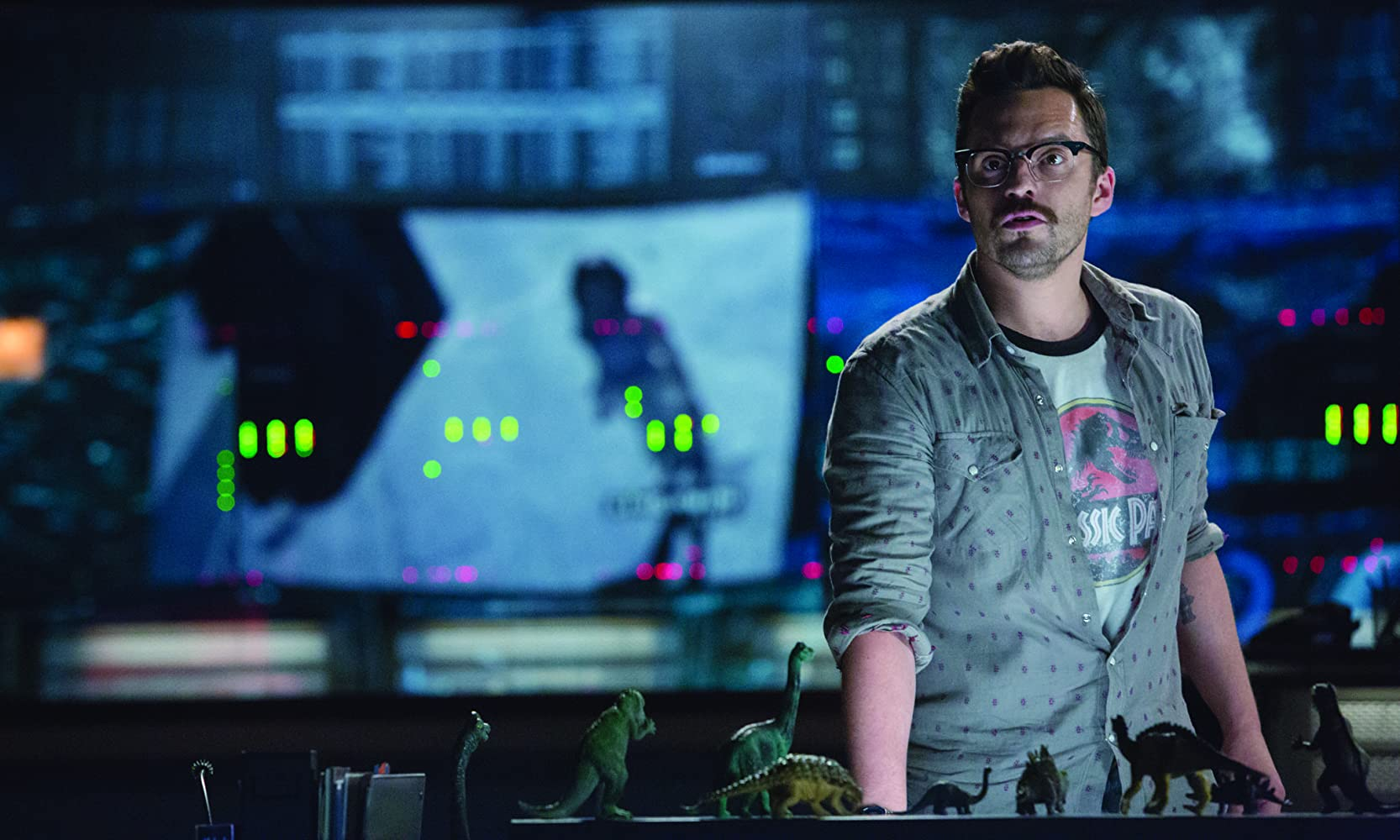 Jake Johnson in Jurassic World (2015)