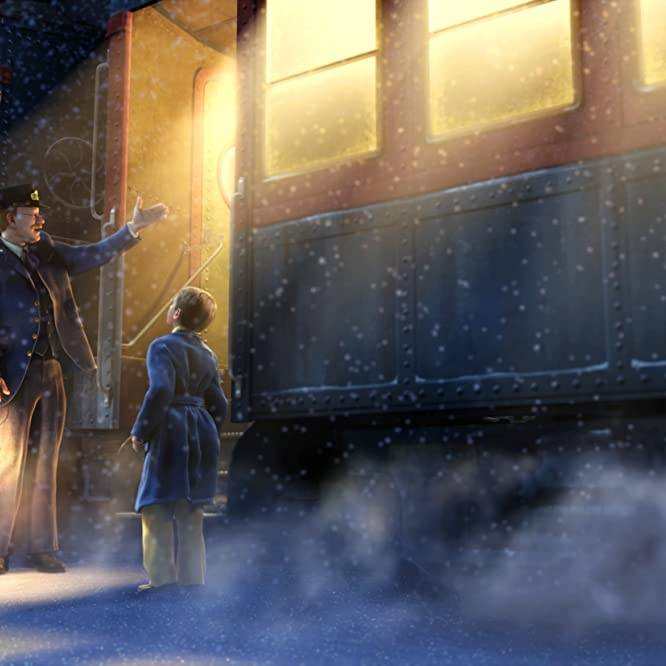 Tom Hanks, Daryl Sabara, and Josh Hutcherson in The Polar Express (2004)