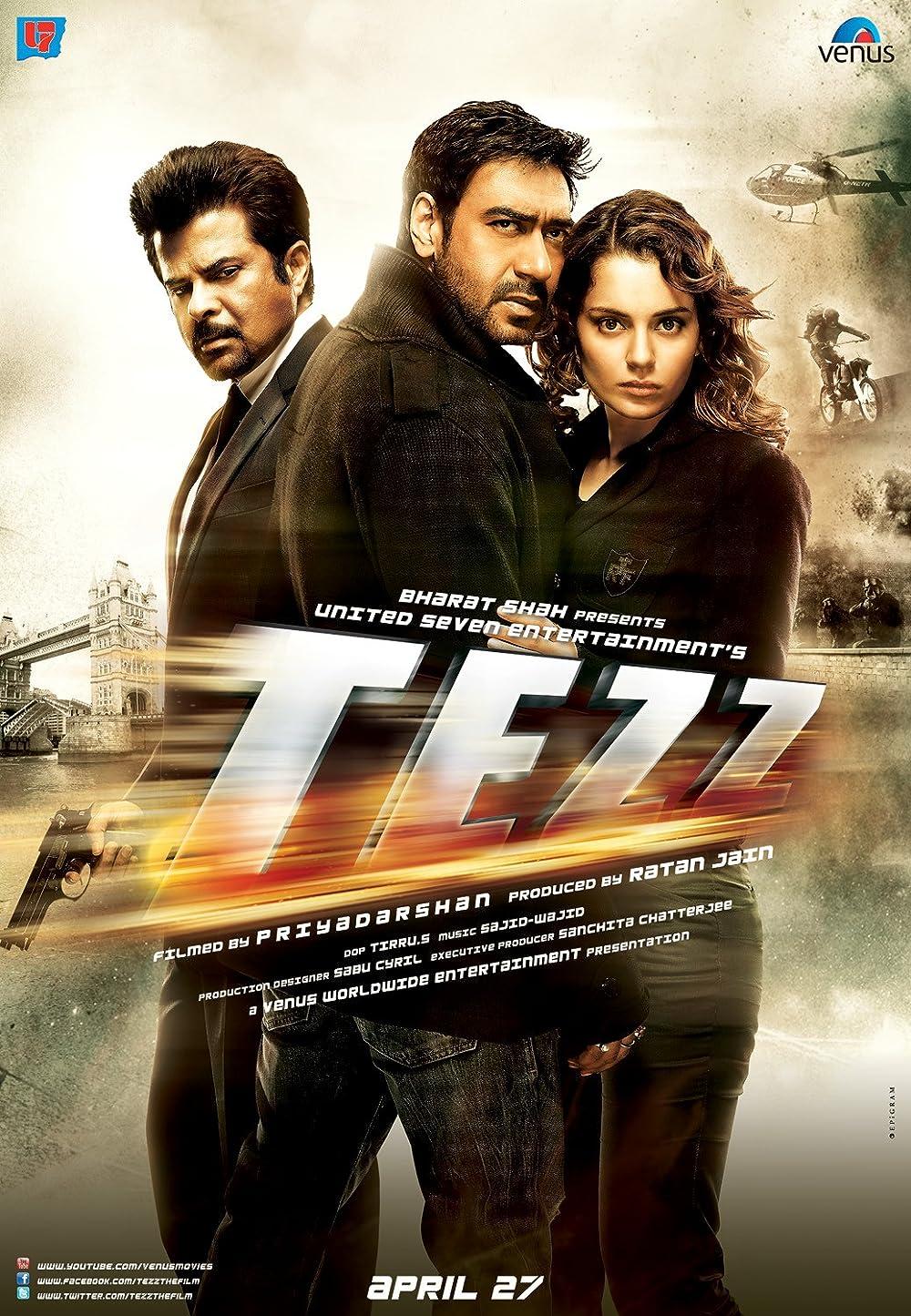 Tezz 2012 Hindi 720p AMZN HDRip ESub 850MB Download