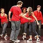 Lea Michele, Cory Monteith, Chris Colfer, Jenna Ushkowitz, and Amber Riley in Glee (2009)