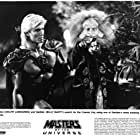 Dolph Lundgren and Billy Barty in Masters of the Universe (1987)
