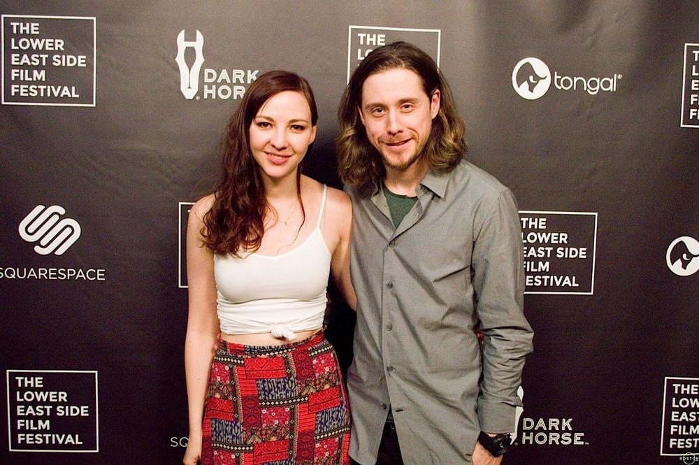 Erin Darke and Johnny Hopkins at 'Sidewalk Traffic' premiere, Lower East Side Film Festival.