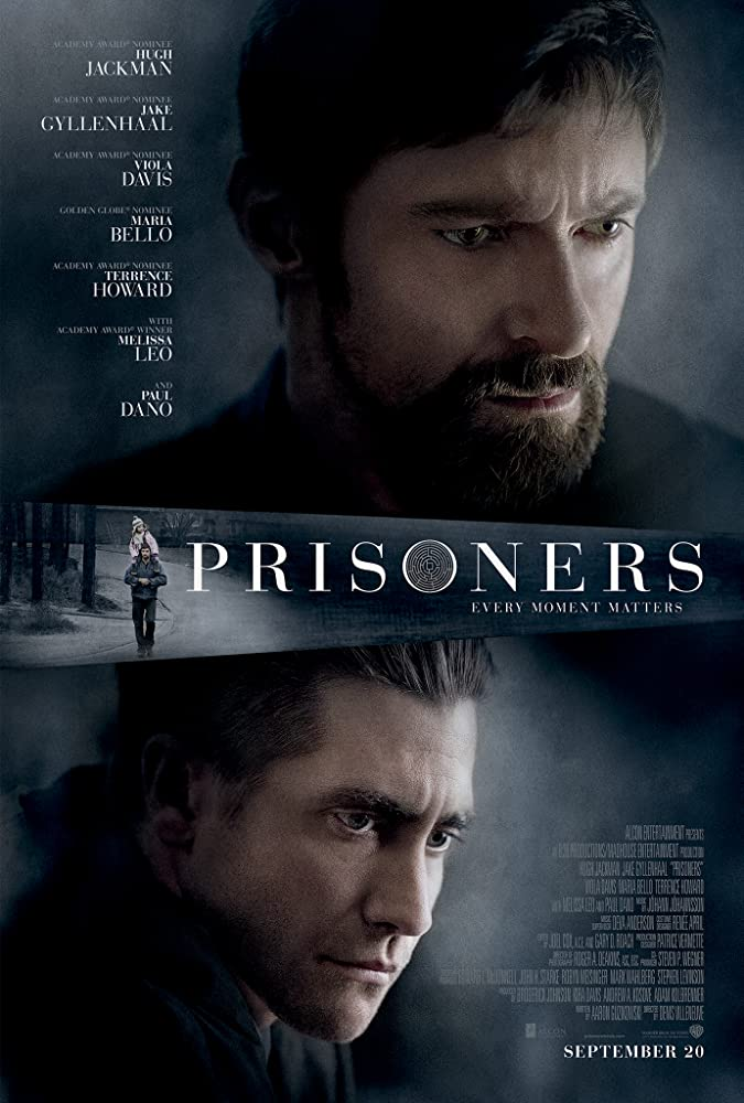 Jake Gyllenhaal and Hugh Jackman in Prisoners (2013)