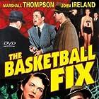Vanessa Brown, John Ireland, and Marshall Thompson in The Basketball Fix (1951)