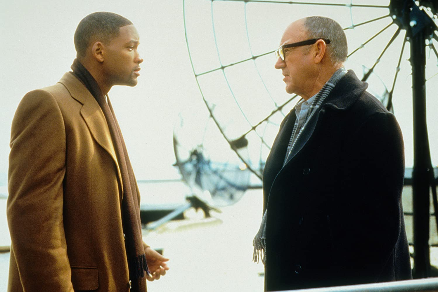 Will Smith and Gene Hackman in Enemy of the State (1998)