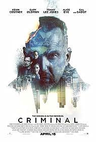 Kevin Costner, Tommy Lee Jones, Gary Oldman, and Gal Gadot in Criminal (2016)