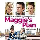 Ethan Hawke, Julianne Moore, and Greta Gerwig in Maggie's Plan (2015)