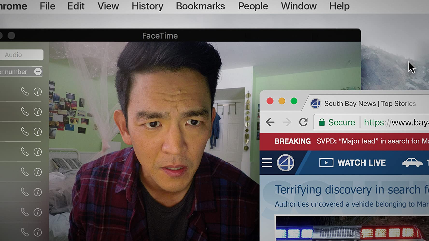John Cho in Searching (2018) buscando... crítica