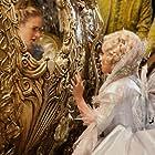 Helena Bonham Carter and Lily James in Cinderella (2015)