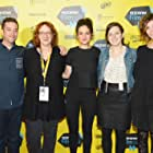 Janet Pierson, Jenny Slate, Gillian Robespierre, Elisabeth Holm, and Gabe Liedman at an event for Obvious Child (2014)