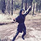 Filming of Star Wars Exile. Bria Roberts as Jedi J.