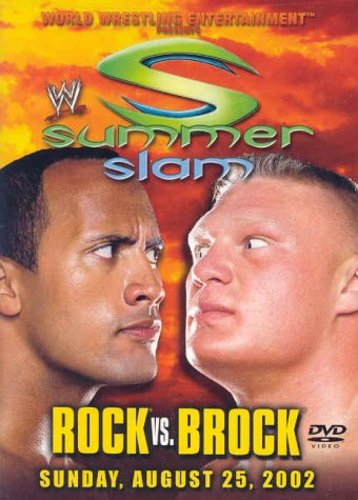 Dwayne Johnson and Brock Lesnar in Summerslam (2002)