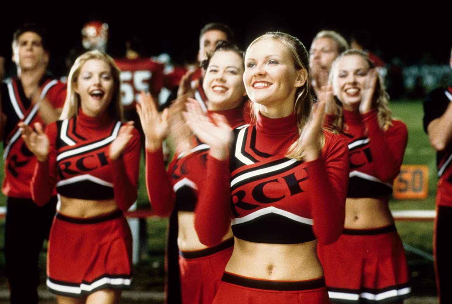 Kirsten Dunst, Clare Kramer, Rini Bell, Huntley Ritter, and Nathan West in Bring It On (2000)