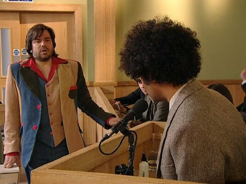 Matt Berry and Richard Ayoade in The IT Crowd (2006)